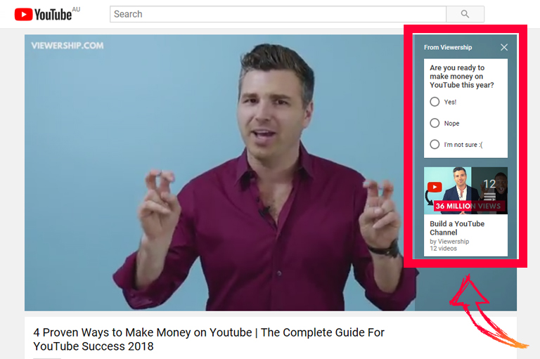YouTube marketing – Sponsored Cards