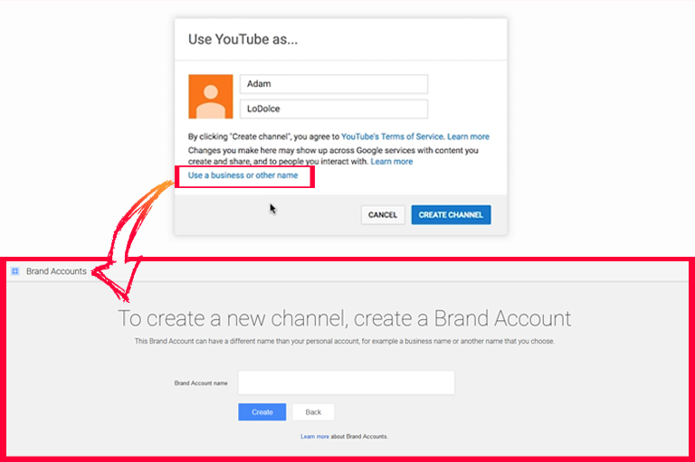 How to setup YouTube channel – create a business YouTube channel