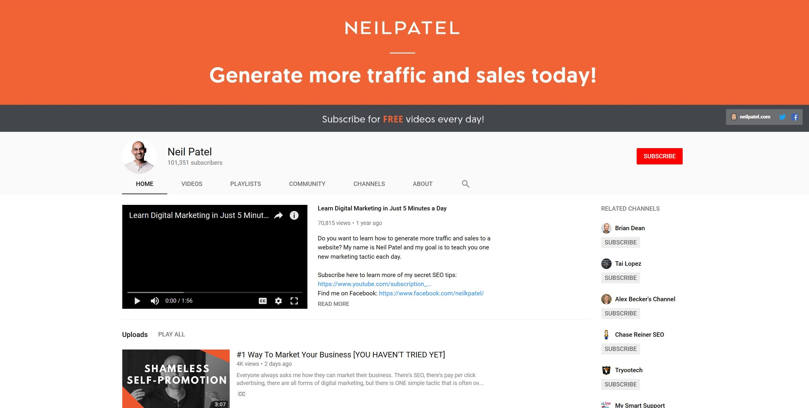 YouTube SEO: Professional Channel