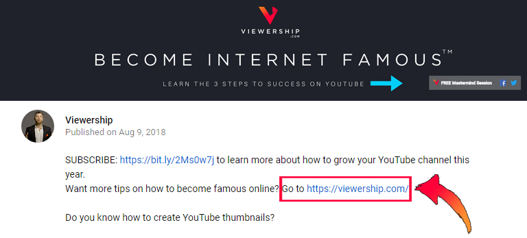 How YouTube pays – use links in video description for extra web traffic