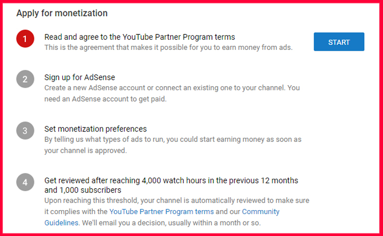 How YouTube Pays – apply for monetization