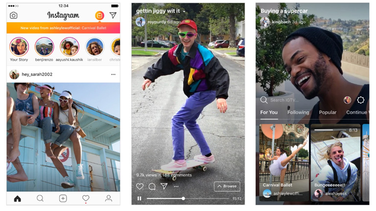Instagram TV – IGTV screenshots